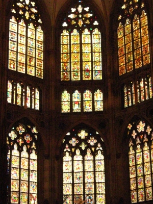 Stained glass windows in Regensburg Cathedral